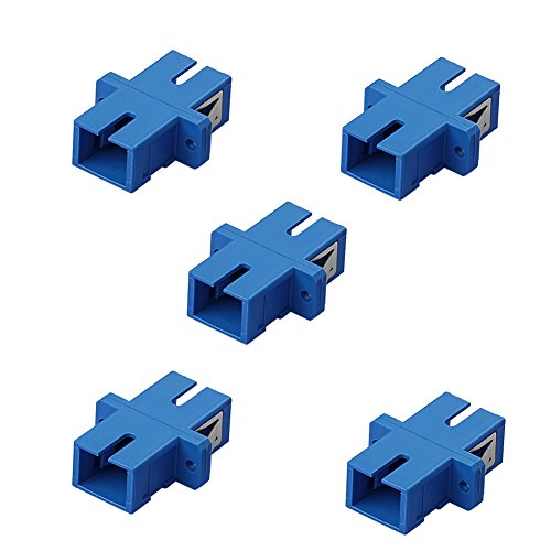 SIENOC 5 Packs SC-SC Multimode Duplex Optical Fiber Optic Cable Coupler Adapter Coupling ()