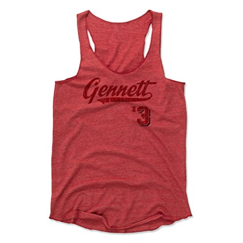 (500 LEVEL Scooter Gennett Women's Tank Top Large Red - Cincinnati Baseball Women's Apparel - Scooter Gennett Script B)