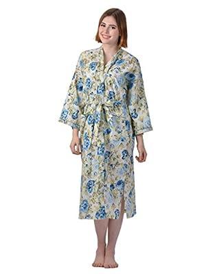 Women's 100% Cotton Robe - Printed - 18 Prints