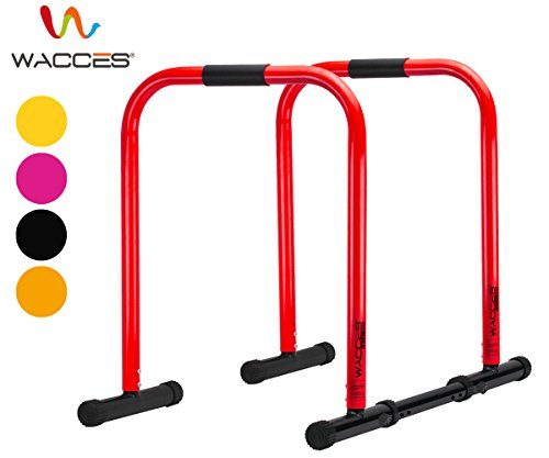 Wacces Heavy Duty Functional Fitness Station Stabilizer Dip Stands – Red For Sale