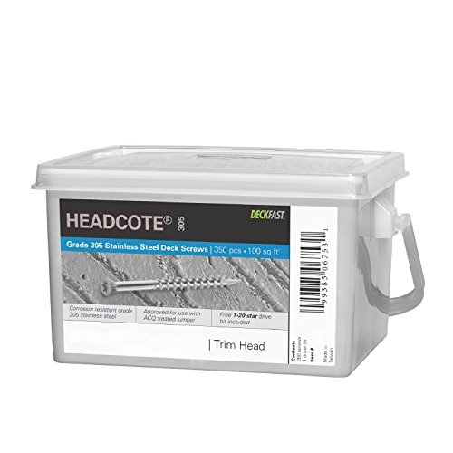 Headcote Trim Screws - #7 x 2-1/4'' - #39 White- 305 Stainless Steel - 350 Pc Deck Pack