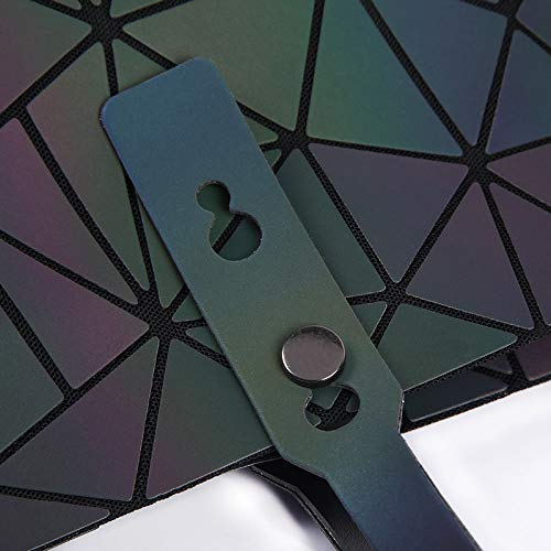Bag Casual Rhombic Hlh Trend negro Luminous Shoulder Single Handbags Changeable Fashion Folding Handbag TqgZPnC