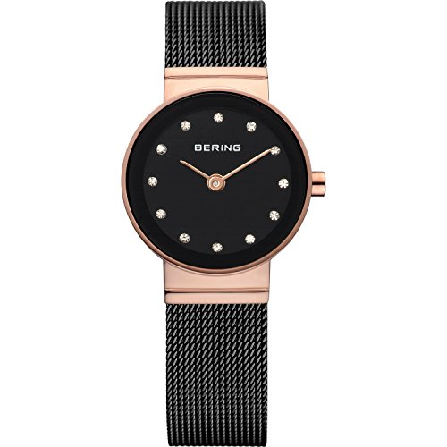 BERING Time 10122-166 Womens Classic Collection Watch with Mesh Band and scratch resistant sapphire crystal. Designed in Denmark.