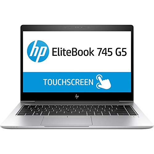 HP Elitebook 745 G5 Laptop PC with AMD Ryzen 7 2700U Quad Core CPU, 16GB DDR4 RAM, 512GB NVMe SSD, 14 Inch FHD Touchscreen Display, Windows 10 Pro, (Laptop, 16GB RAM, 512GB SSD)