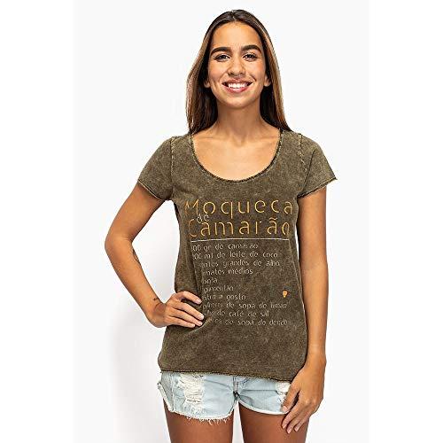 T-Shirt Feminina Moqueca De Camarão P
