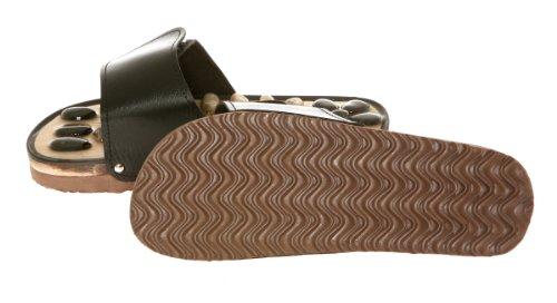 Massage slipper - Stone Reflexology - Size 6 - black