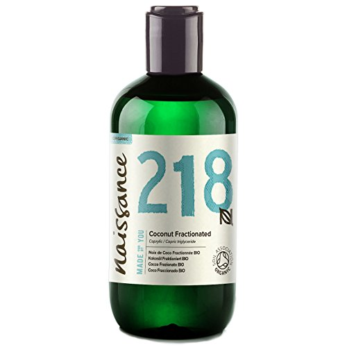 Naissance Organic Fractionated Coconut 8.5 Fl. oz. - Pure, Natural, UK Certified Organic, Cruelty Free, Vegan - Moisturizing & Hydrating - Ideal for Aromatherapy, Massage and DIY Beauty Recipes