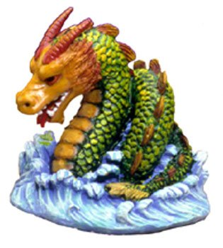 (Blue Ribbon Pet Products Resin Ornament - Raging Sea Serpent)