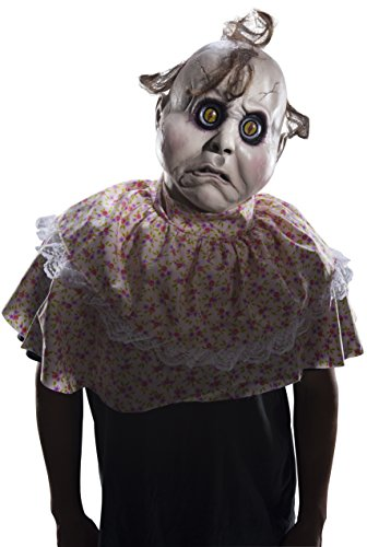 Rubie's Costume Men's Standard Doll Face Latex Mask, as Shown, One Size]()