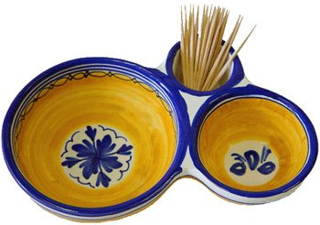 Ceramic Olive Dish from Spain. Fiesta Yellow Pattern  sc 1 st  Amazon.com : olive pattern dinnerware - pezcame.com