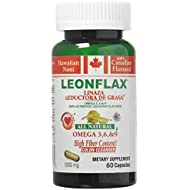 Leonflax Canadian Flaxseed Plus Fat Reducer 60 Capsules 1000mg