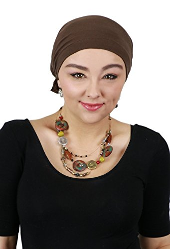 Cancer Headwear for Women Headscarves Chemo Patients Head Scarfs Head Coverings (Brown) - High Quality Headcovers