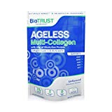 BioTrust Ageless Multi Collagen Protein | 5-in-1 Collagen Powder | 5 Collagen Types (I, II, III, V & X) | Hydrolyzed Collagen Peptides | Grass-Fed Beef, Sustainable Fish, Chicken, Eggshell Membrane