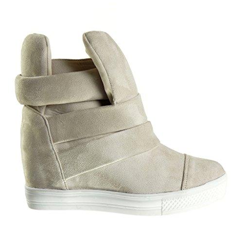 Corda De Tanga Alto Alta Planalto Vintage Centímetros Cunha Sapatos Do Salto Da Bege Mulheres Estilo Oito Sapatilha Angkorly Da x4PfqSf