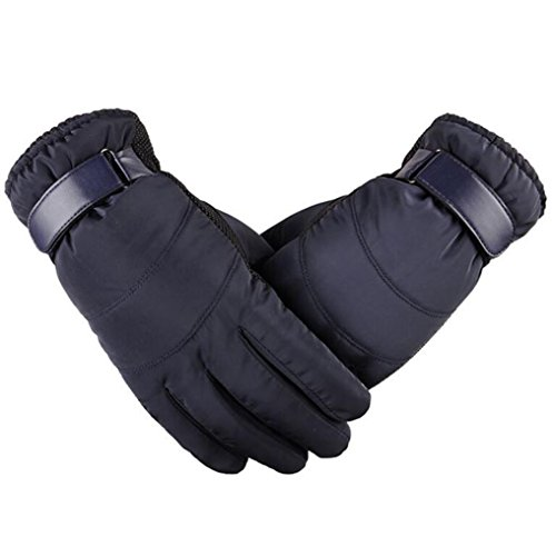 JOYEBUY Men Warm Winter Windproof Waterproof Gloves Touchscreen Cold Weather Outdoor Ski Gloves (Blue)