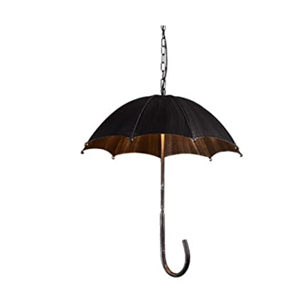 L&LQIndustrial estilo nostálgico paraguas arañas de café restaurante de hierro forjado creativa personalidad retro arañas de