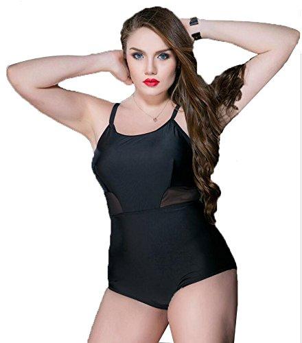 Bikini Del Halter Del Traje De Bano Del Empalme De La Muneca De Las Mujeres, Solido Push-up Mas Tamano Black