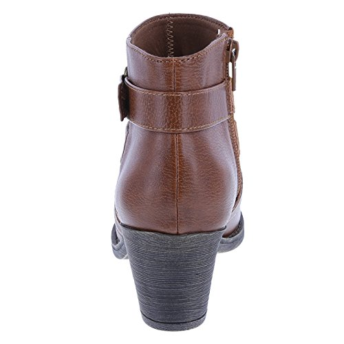Tori Side Strap Lower Ankle Boot Cognac Women's East qBA5wgWFSt