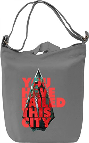 You Have Failed This City Borsa Giornaliera Canvas Canvas Day Bag| 100% Premium Cotton Canvas| DTG Printing|
