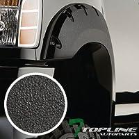 Topline Autopart Sandblast Black Pocket Rivet Style 4Pc Fender Flares Kit Driver Passenger Wheel Cover For 04-15 Nissan Titan Styleside