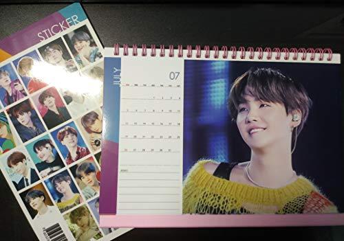 BTS Desk Calendar 2020-2021 with Stickers Set (Suga 2)