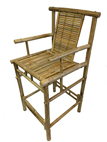 MGP Bamboo Tiki Bar Stool with Back and -