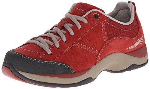 Zapatillas Dansko Mujer Sabrina Cuero Moda Sneaker Ladrillo Rojo Gamuza