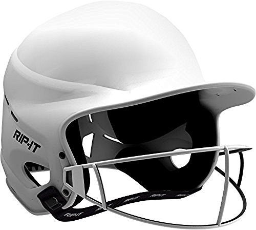 RIP-IT Vision Pro Matte Softball Batting Helmet (Matte White, Extra (5000 Batting)