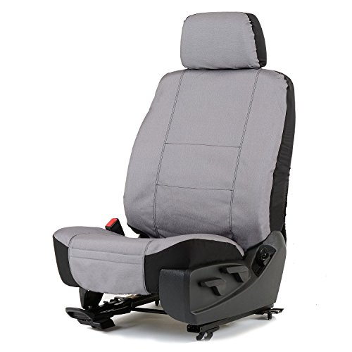 Bucket Seat Headrests (Charcoal Canvas Low Back Bucket Seat Cover W/Headrest Cover)