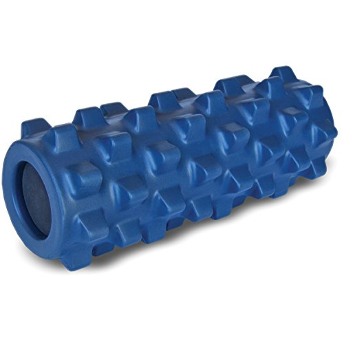 Cheap RumbleRoller RRC126 – Half Size 12 Inches – Blue – Original – Textured Muscle Foam Roller – Relieve Sore Muscles- Your Own Portable Massage Therapist – Patented Foam Roller Technology