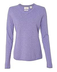 Weatherproof Womens Vintage Cotton Cashmere V Neck Sweater W151363 Lavender Xl