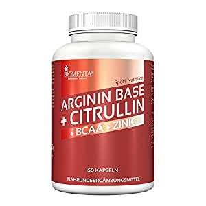 L ARGININA CITRULLIN 3600 mg Alta dosis + BCAA 1000 mg + Cinc - 150 Cápsulas