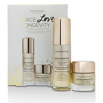 - bareMinerals Peace Love Longevity Skinlongevity Serum and Eye Cream Duo