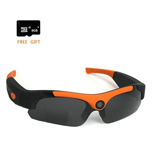 FTON HD 1080P Eyewear Sunglasses Camera Recording DVR Glasses Camcorder+Free 8G Micro SD Card ()