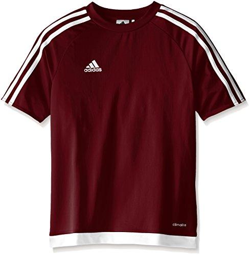 adidas Kids' Soccer Estro Jersey, Maroon/White, X-Small