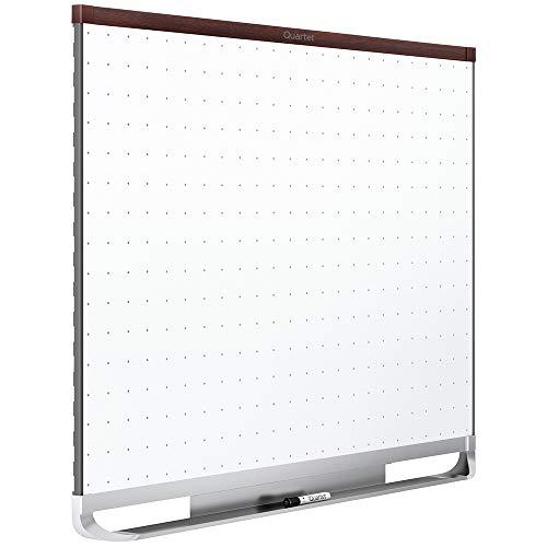Quartet Whiteboard, White Board, Dry Erase Board, 4' x 3', Mahogany Finish Frame, Prestige 2 Total Erase (TE544MP2) Dark Mahogany Finish Frame