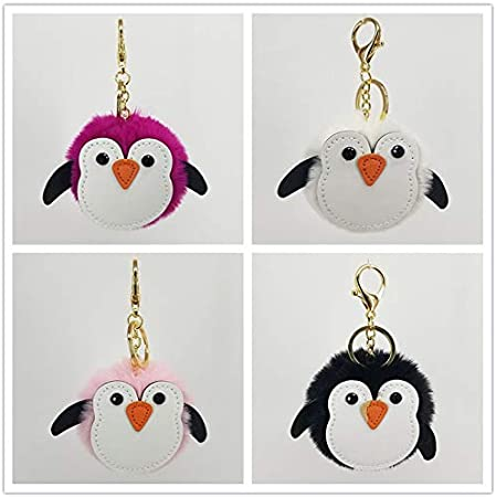 10cm Hosaire 1 Pcs Metal Keychain,Lovely Penguin Pendant Keyring Fashion Key Chain Cute Car Keyring Gift for Women Lady Girls Phone Handbag Ornaments Gray,13