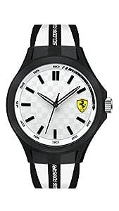 Ferrari Scuderia Pit Crew Men's White Dial Silicone Band Watch - 830280