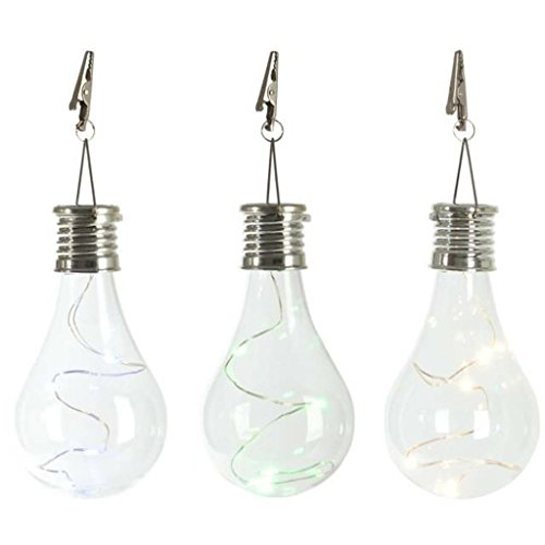 Solar Light, Hatop Waterproof Solar Rotatable Outdoor Garden Camping Hanging LED Light Lamp Bulb (Clear) 800 Clear Lamps