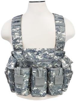 NcSTAR Digital Camo Airsoft Tactical Chest Rig Vest w// Mag Pouch Bag CVAKCR2921D