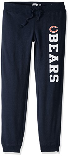 (NFL Chicago Bears Women's Ots Fleece Pants, Small, Fall Navy)