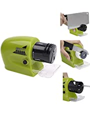 Afilador de cuchillos eléctrico,Manba Afilador motorizado inalámbrico para hojas de cuchillo