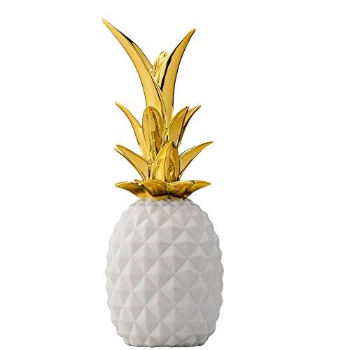 Bloomingville White & Gold Ceramic - Pineapple Ceramic