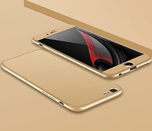 Cover 360 PC Gradi Stilosa iPhone 6S Custodia Antiurto della Antigraffio Case Posteriore 1 copertura Vanki Copertura iPhone completa Protettiva per Oro Bumper 6S 6 3 in 6 Hard IqOwZXAf