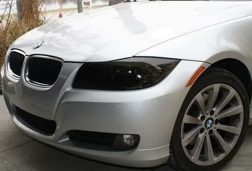 35/% Light Smoke Precut Vinyl Tint Cover for 2006-2011 BMW 3 Series Sedan Headlights