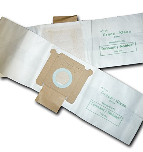 Green Klean GK-TidVac Tennant/Nobles Tidy-Vac Canister and Tennant Model 3400 Replacement Vacuum Bags (Pack of 100)