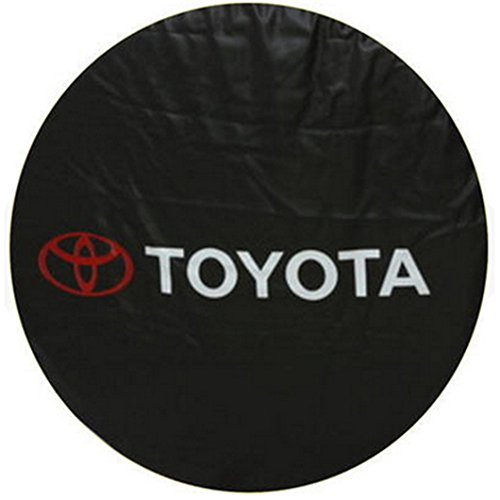 Car Styling SUV Spare Wheel Cover Compatible For Toyota Land Cruiser Prado Spare Tire Cover 16 Inch ()