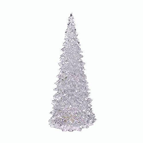 CMrtew ❤️ 2018 1/2 Pcs Christmas Tree Colorful LED Acrylic Mood Lamp Night Light Decor Kids Toy Gift (2pcs White, 12cmx 5.5cmx 5.5cm) ()