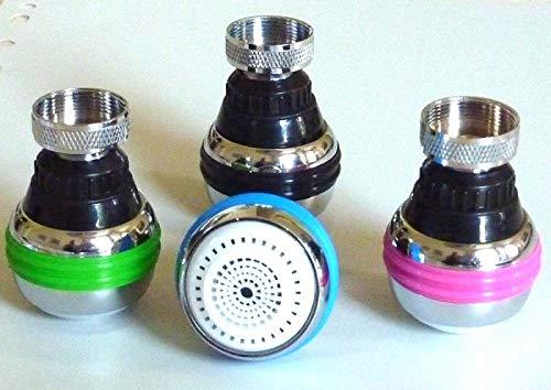 Douchette robinet cuisine design 2 jets avec set 3 couleurs ECOEAU+