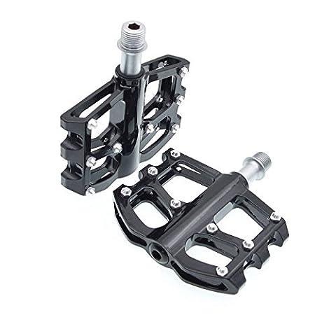 Mountain Bike Pedals - MTB Magnesium Platform Pedals, CNC Steel Axle 9/16